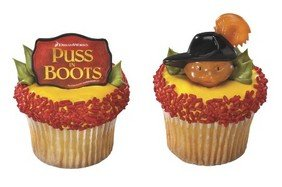 12 ct - Puss in Boots Cupcake Rings