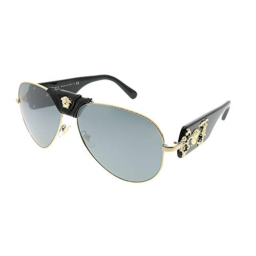 (Versace Mens Sunglasses Rose Gold/Grey Metal - Non-Polarized -)