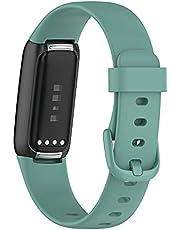 KINOEHOO Ersättningsrem Klockrem Kompatibel med Fitbit Luxe Ersättningsarmband Armband.