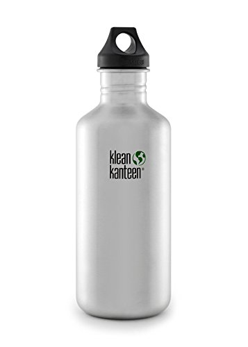 Klean Kanteen Classic 27-Ounce Stainless Steel Bottle With Loop Cap