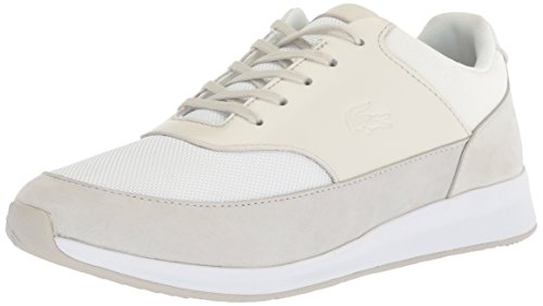 Lacoste Women's Chaumont 118 2 G Spw Sneaker, Light Grey/Light Tan/White, 9.5 M US