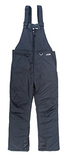 Alpine Ascentials Classic Snow Bib Skiing Pants, Black, Small