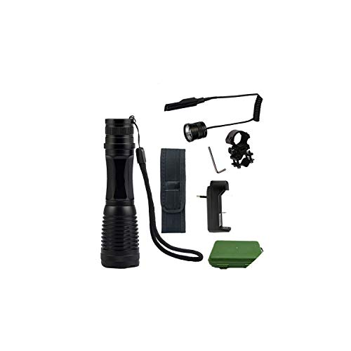 9500/9000Lm Flashlight Torch Zoomable Lantern With Remote Switchping,B,T6 9000Lm -