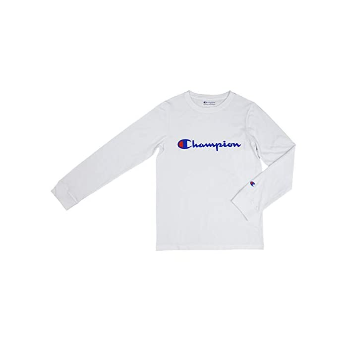 1823b178 Home/WOMEN/Clothing/Champion Girls Heritage Long Sleeve Logo Tee Shirt. ; 