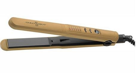 "Belson Gold 'n Hot 1"" Ceramic Led Flat Iron, 16.8 Ounce"