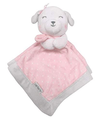 Child of Mine Carters Plush Lamb Security Blanket w/Pink Polka Dot Blanket