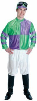 Fun Shack Adult Green & Purple Jockey Costume - SMALL by Fun (Jockey Costumes For Adults)