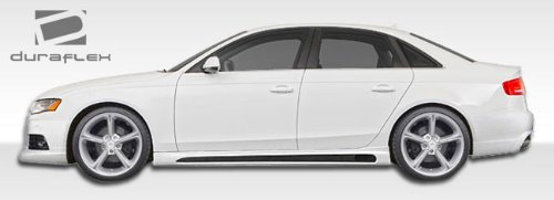 Audi Side Skirts - 2009-2017 Audi A4 S4 4DR Wagon R-1 Side Skirts Rocker Panels - 2 Piece