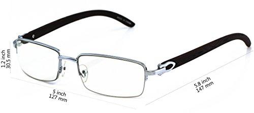 Elite WOOD Art Nouveau VINTAGE Semi Rimless Gangster RICH Frame Eye Glasses