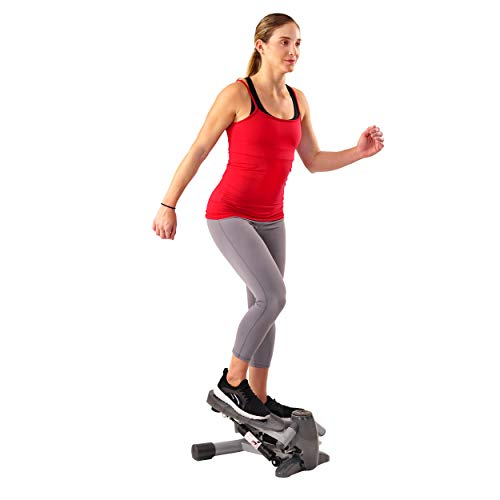 (Sunny Health & Fitness S0636 Twist-in Stepper Step Machine w/ LCD Monitor)