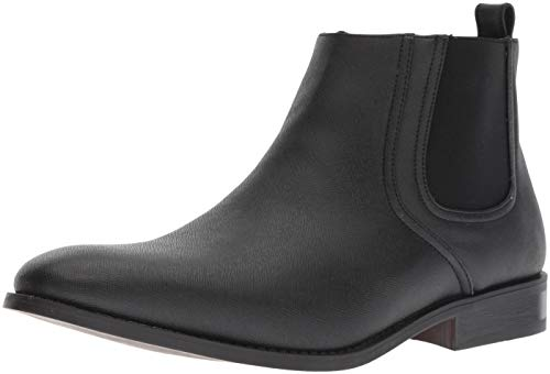 (Unlisted by Kenneth Cole Men's Half N Half Ankle Boot, Black, 8.5 M US)