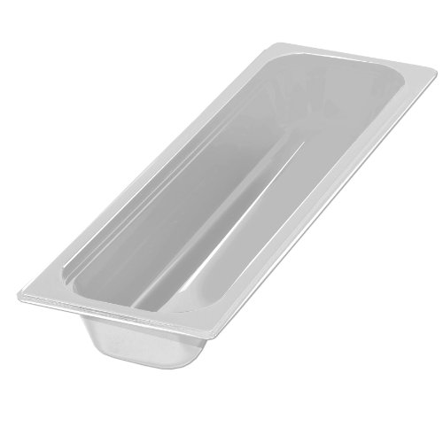 Carlisle 10240B02 Polycarbonate Half-Size Long Food Pan, 2.9 qt. Capacity, 20-3/4 x 6-1/4 x 2-1/2'', White (Case of 6) by Carlisle