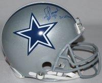 (JAY NOVACEK Signed LE Cowboys Full-Size Authentic Pro-Line Helmet Inscribed