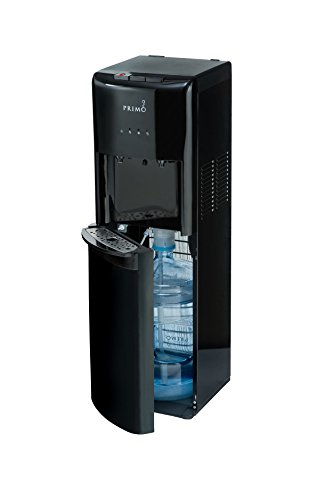 Primo 601088 Black 2 Spout Bottom Load Hot and Cold Water Cooler - Bottom Dispenser Primo Water Load