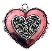 (Judith Jack Heart Locket Charm)