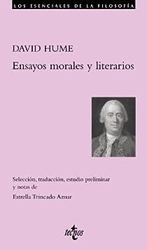 Ensayos morales y literarios par Hume