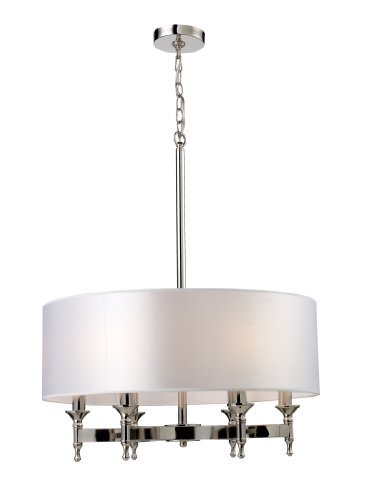 Elk 10162/6 Pembroke 6-Light Chandelier In Polished Nickel by Elk
