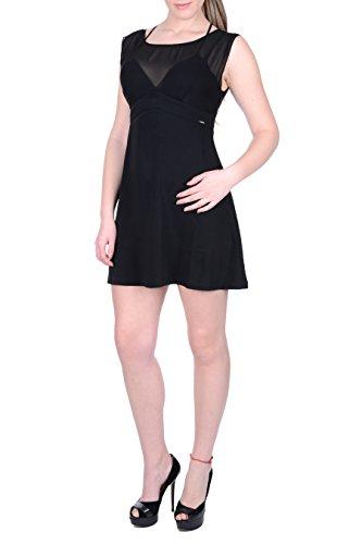 Guess A996 W72K78W8G50 Mujer Vestido Negro Fxrw0YIrq