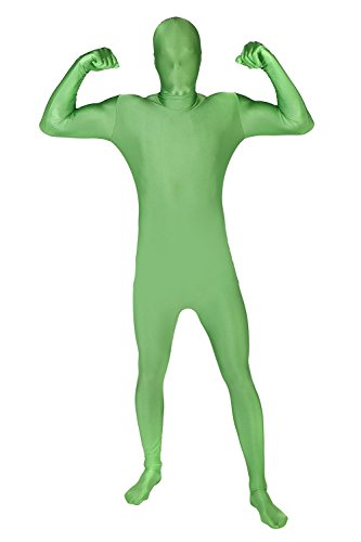 [Full Body Green Spandex Suit Costume Large/X-Large Size] (Spandex Suits)