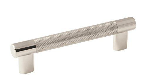 (Amerock BP36558PNSS Esquire 5-1/16 in (128 mm) Center-to-Center Polished Nickel/Stainless Steel Cabinet Pull)