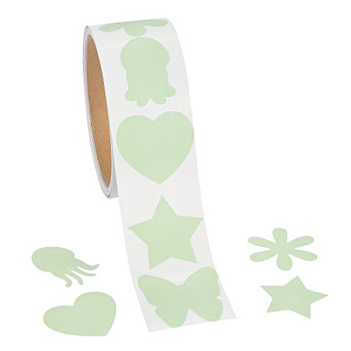 - Fun Express Glow In The Dark Shapes Sticker Roll