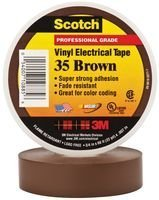 Tape, Brown, Electrical Insulation, PVC (Polyvinyl Chloride), 12.7 mm, (Brown Electric Inc)