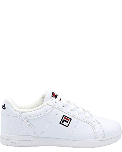 Sneakers White Fila (Fila Men's New Campora Sneaker,White/navyred,10.5)