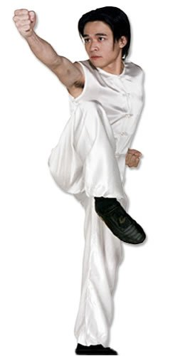 Tiger Claw Kung Fu (Kungfu) Uniform White Silk Southern Style - Extra Small