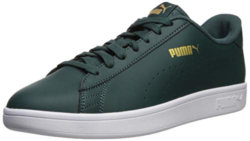 PUMA Men's Smash V2 Sneaker, Ponderosa Pine Team Gold White, 6 M US