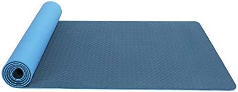 Eco friendly ヨガマットストラップヨガフィットネスとエクササイズマット(183センチメートルロングX 61センチメートルワイドXの厚さ6mm) exercise (色 : Blue)