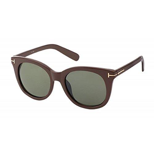teñido UV forma adorno 400 Chic ojo de gato sol Net de en del de T gafas metal Verde de E4SwqwxT6