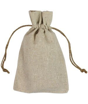 4'' x 6'' Natural Linen Favor Bags - 12 Pack by BurlapFabric.com (Image #1)