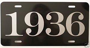 Motown Automotive Design 1936 36 YEAR METAL LICENSE PLATE
