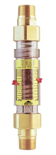 Series Brass T300 (Hedland H625-016 EZ-View Flowmeter, Polysulfone, For Use With Water, 1.0 - 16 gpm Flow Range, 3/4