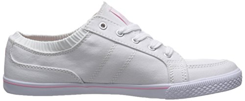 Ryka Emory Mujer Lona Zapatillas, White/Candy Pink/Chrome Silver, 40.0 EUR / 10 US