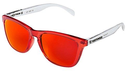 white Gafas IT NORTHWEEK sol Polarizada Red Bright CUSTOMIZE lente de roja bright RWOqfOA
