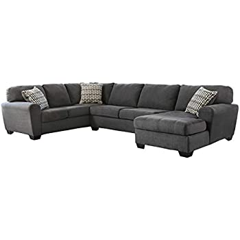 Amazon.com: Signature Design by Ashley Jessa Place Sectional ...