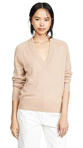 Equipment Women's Madalene V-Neck Sweater, Camel, Extra Small