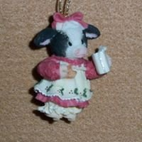 Mary's Moo Moos Holiday Ornaments #460176 and #460168