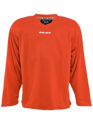 Bauer Core Practice Jersey Youth Sizes (Orange, Goalie)