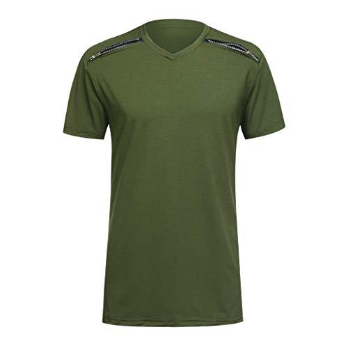 Men Blouse,MILIMIEYIK T-Shirt Sportswear Men's 100% Polyester Moisture-Wicking Training Short-Sleeve Quick Dry T-Shirt Top -