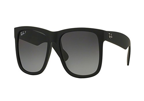 Ray-Ban Rectangle 0RB4165 Justin Sunglasses for Mens - Size - 53 (Polar Grey Gradient)