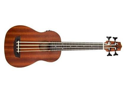 Kala ubass-wndr-fs Wanderer satén de 4 cuerdas Mahogany ukelele eléctrico acústica guitarra