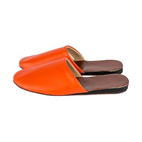femme Orange pour w Haisum Chaussons Tb002 FYwCqUUf