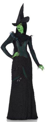 Leg Avenue Women's Wicked 3 Piece Deluxe Defying Gravity Elphaba Witch Costume, Black, (Wicked Elphaba Halloween Costume)