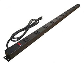 4ft 12 Outlet Metal Power Strip