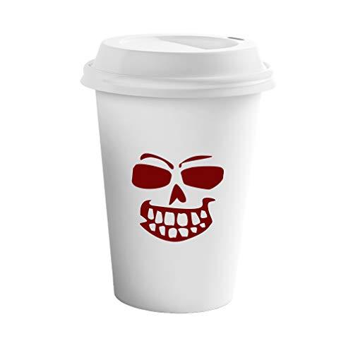 Maroon Pumpkin Face for Halloween Style 5 Ceramic Coffee Tumbler Travel Mug -