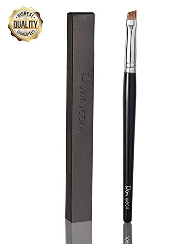 Professional Thin Eye Brow Brush Eyeliner Brush, Mini Eye Brush for Tinting Angled Eyebrow Eyeliner, Fit for Gel Cream Powder Natural Bristle #S42