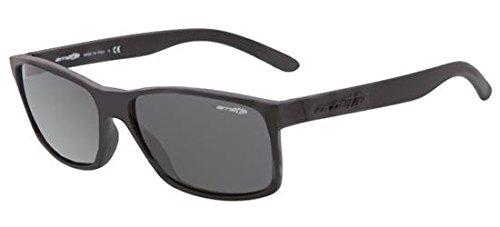 Arnette Men's Slickster Rectangular, Fuzzy Black w/Grey, 59mm