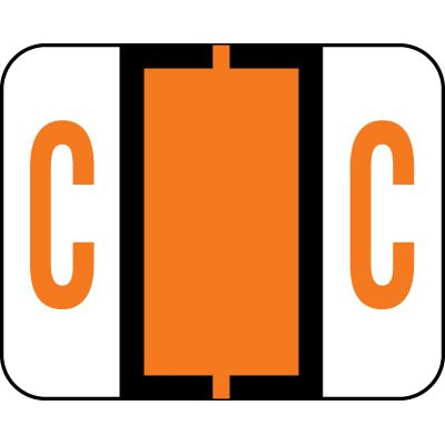 AMZfiling Alphabetic Color Code Labels, Compatible with Smead BCCR- Letter C, Dark Orange (120/Package) Alpha Sheet Style Labels